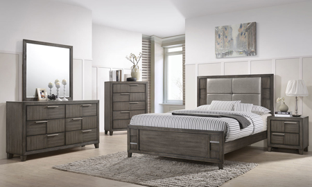 Denton 5-Piece Queen Bedroom Set Grey