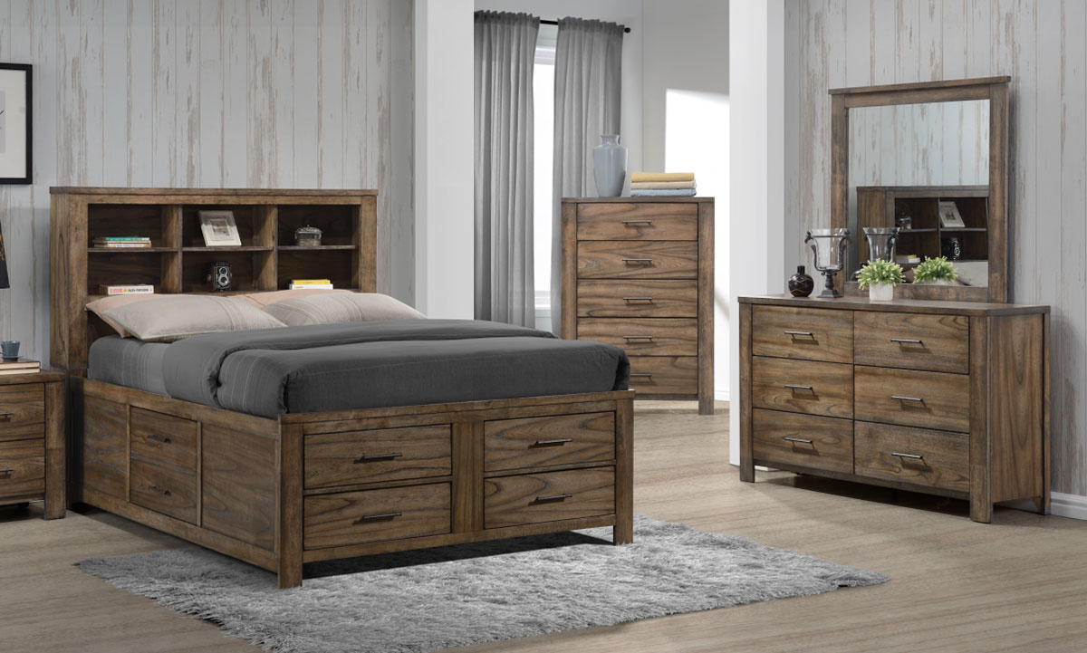 Emerald Home 6 Piece Queen Storage Bedroom Set The Dump Luxe Furniture Outlet