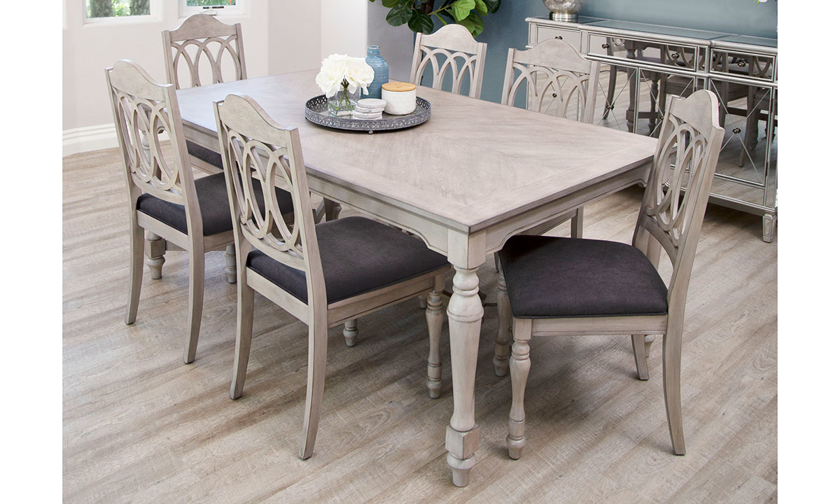 Abbyson Living Alfred 7-Piece Dining Set Grey