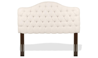 Martinique King Button-Tufted Headboard Ivory
