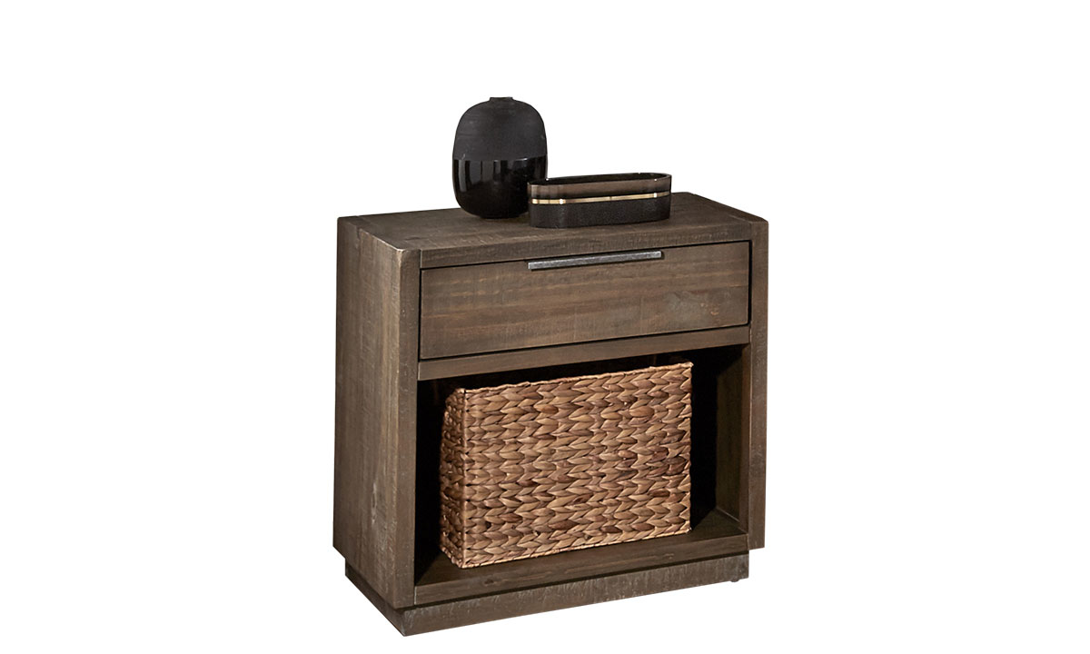 A-America Grey Harbor Solid Pine Nightstand