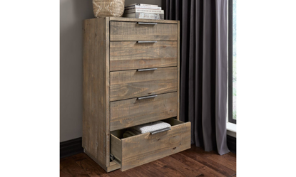 A-America Grey Harbor Solid Pine Five-Drawer Chest