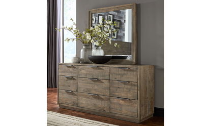 A-America Grey Harbor Solid Pine Nine-Drawer Dresser