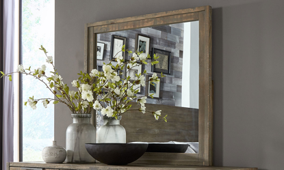 A-America Grey Harbor Solid Pine Mirror