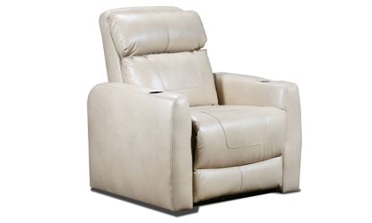 Southern Motion Premier Champagne Power Headrest Home Theatre Recliner