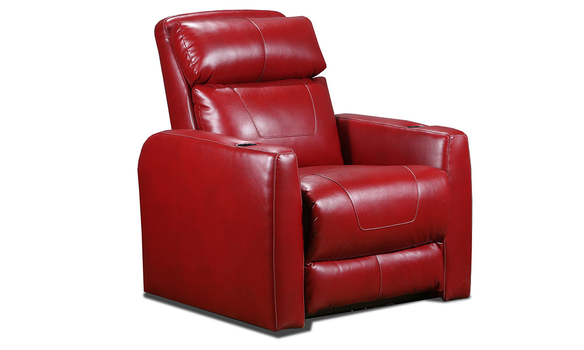 Southern Motion Premier Red Power Headrest Home Theatre Recliner