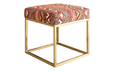 Carolina Custom Aberdeen Square Ottoman Morocco Multi