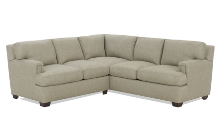 Carolina Custom Bowden 2-Piece Sectional Warm Grey