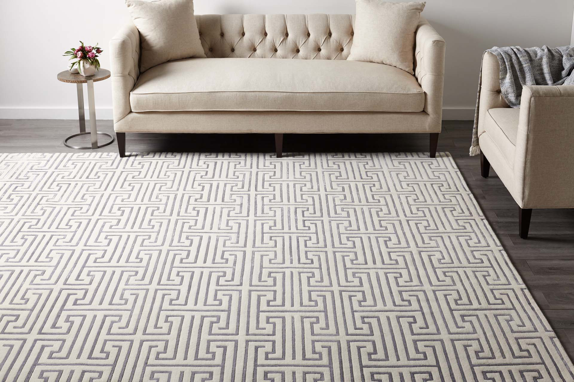 Sadie Ivory Hand Knotted Area Rug The Dump Luxe
