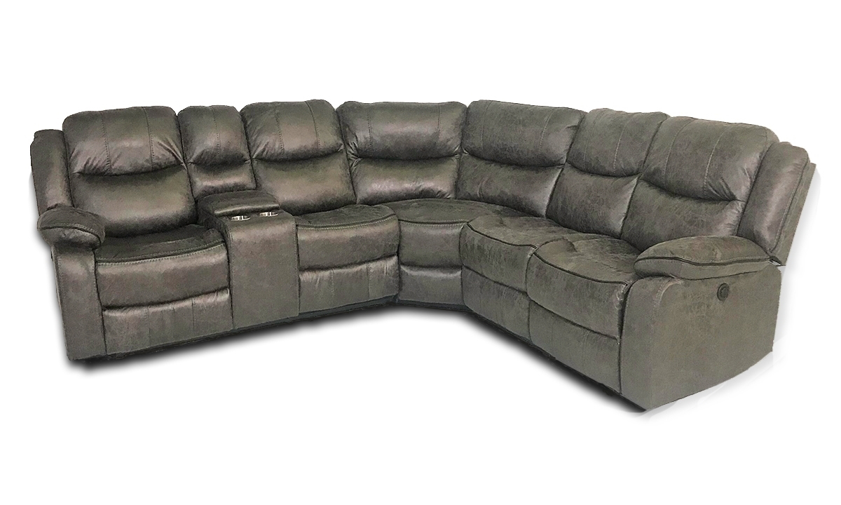 Phenomenal Gray Dual Power Reclining Storage Sectional Andrewgaddart Wooden Chair Designs For Living Room Andrewgaddartcom