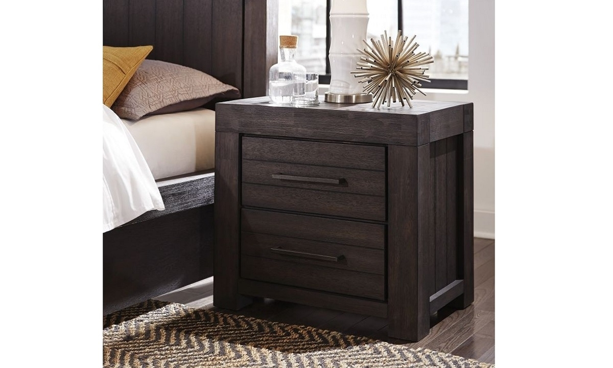Modus Furniture Heath Acacia 2-Drawer Nightstand