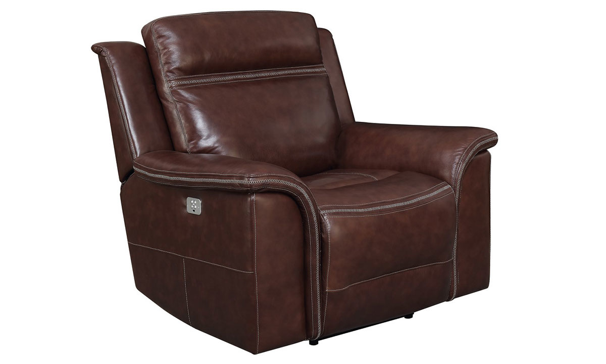 Klaussner Huxley Power Recliner Niko Brown The Dump Luxe