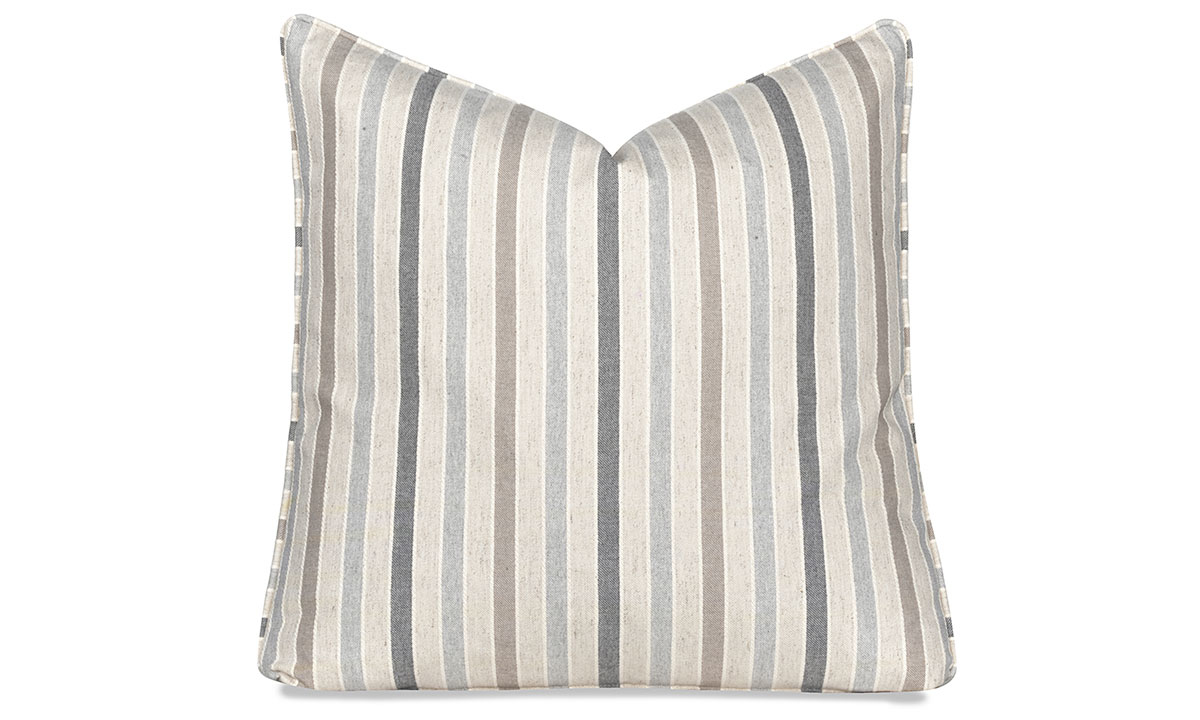Carolina Customs 22-Inch Feather Down Toss Pillow Blue Stripes