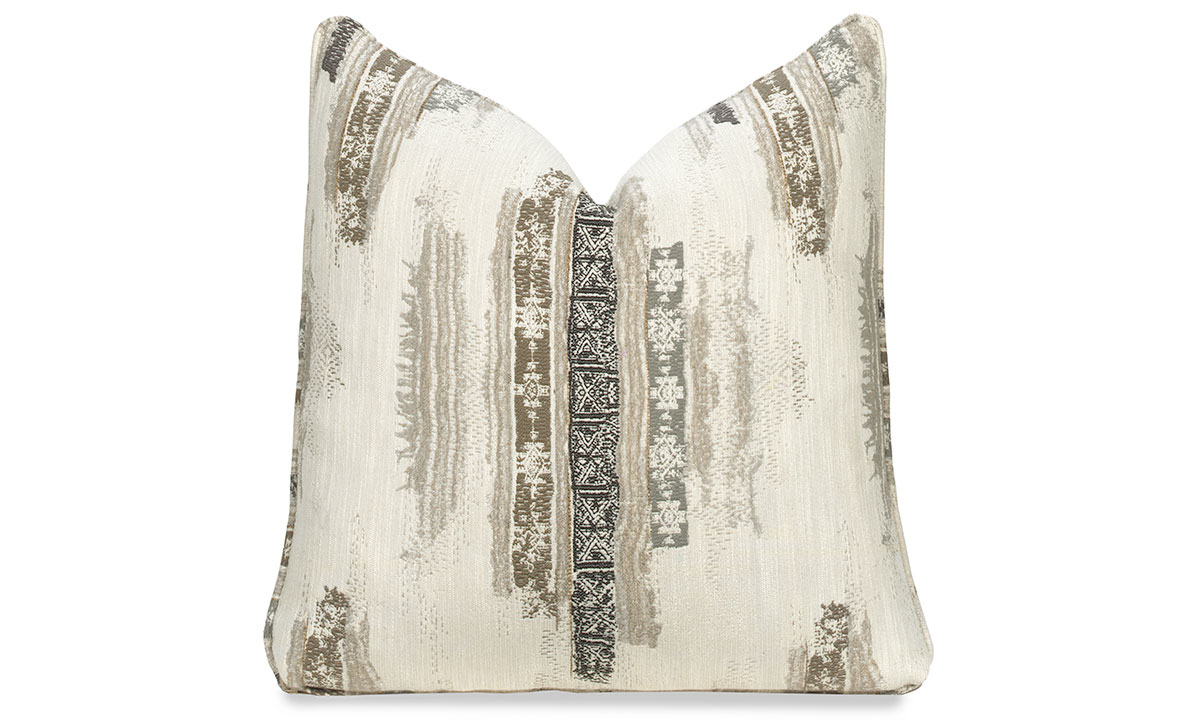 Carolina Custom 22 Inch Feather Down Toss Pillow Boho Beige The Dump Luxe Furniture Outlet