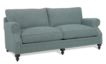 Carolina Custom Sherwood Sofa Sea Blue