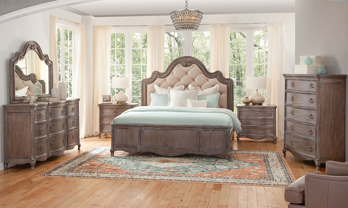American Woodcrafters Genoa 6-Piece Queen Bedroom Set
