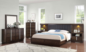 Manhattan King Wall Bed with Lights