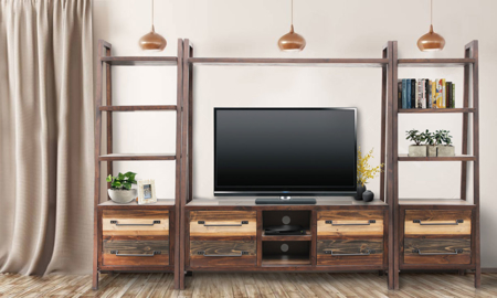 Urban Roads Newport 3-Piece Media Wall Unit