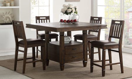Cortez 5-Piece Counter Height Dining Set