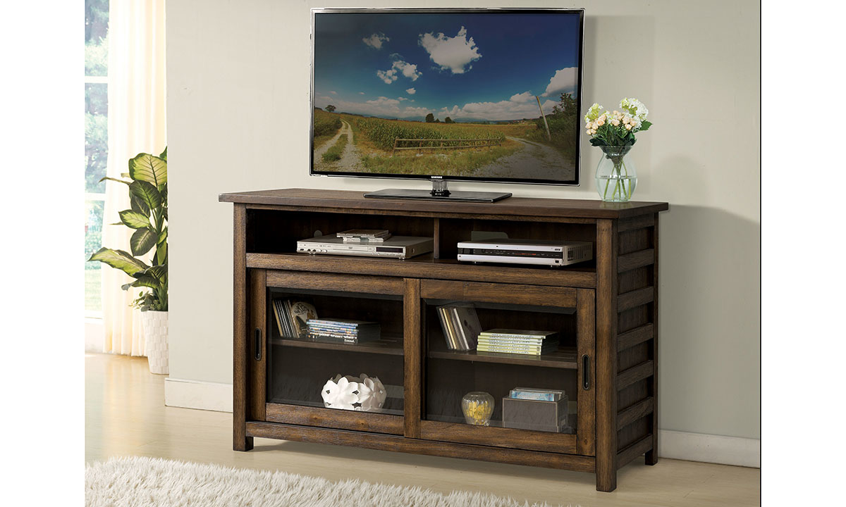 """Riverside Furniture Perspectives 54"""" Media Console Brown"""