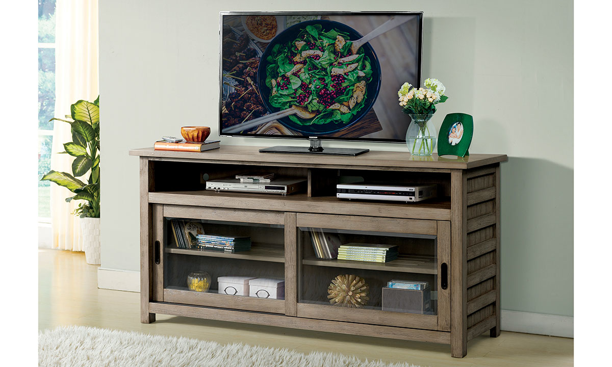 "Riverside Furniture Perspectives 64"" Media Console Light Brown"