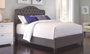 Moselle French Grey Tufted Twin Bed