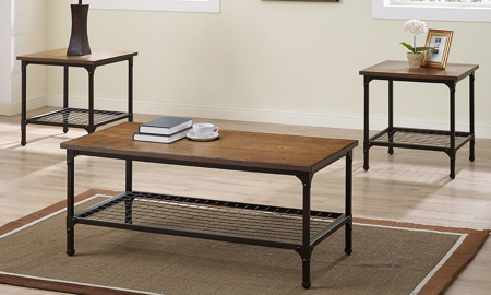 Bernards Stockton 3-Piece Occasional Table Set