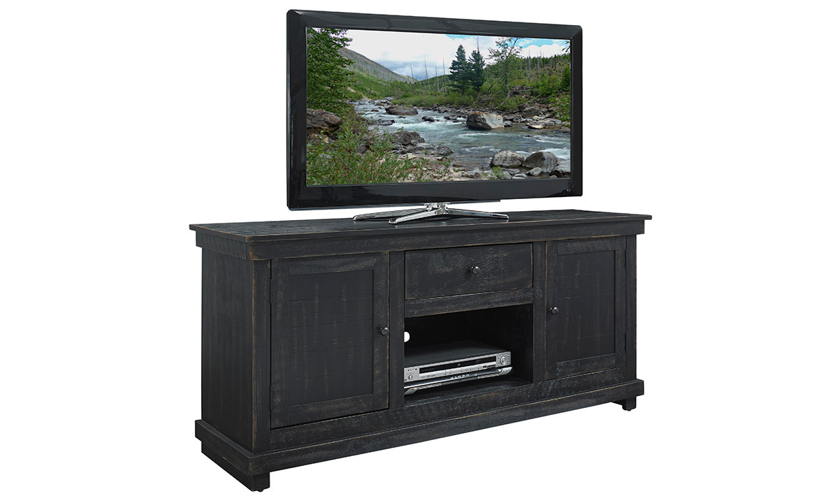 Hillsdale Villa 60-inch Entertainment Console Black