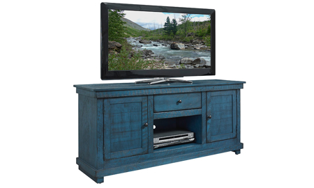 Hillsdale Villa 60-inch Entertainment Console Teal