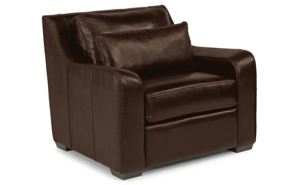 Flexsteel Crimson Top Grain Leather Chair Brown