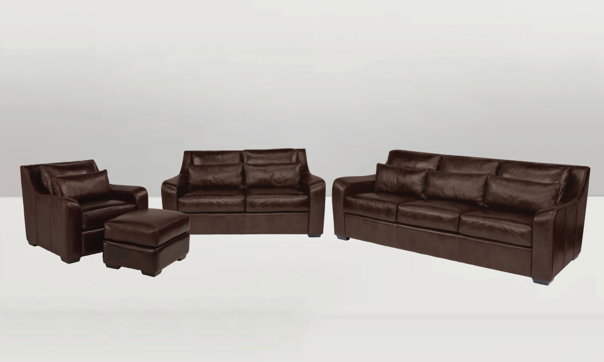 Phenomenal Flexsteel Crimson Top Grain Leather 4 Piece Sofa Set Brown Caraccident5 Cool Chair Designs And Ideas Caraccident5Info