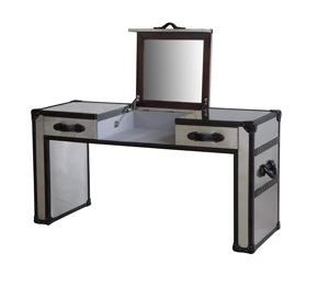 Lazzaro Dietrich Trunk Lift-Top Vanity Table