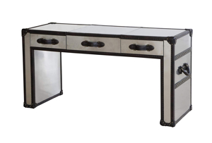 Lazzaro Dietrich Trunk Lift-Top Vanity Table - CLOSED