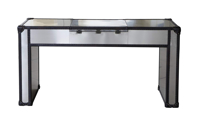 Lazzaro Dietrich Trunk Lift-Top Vanity Table - BACK