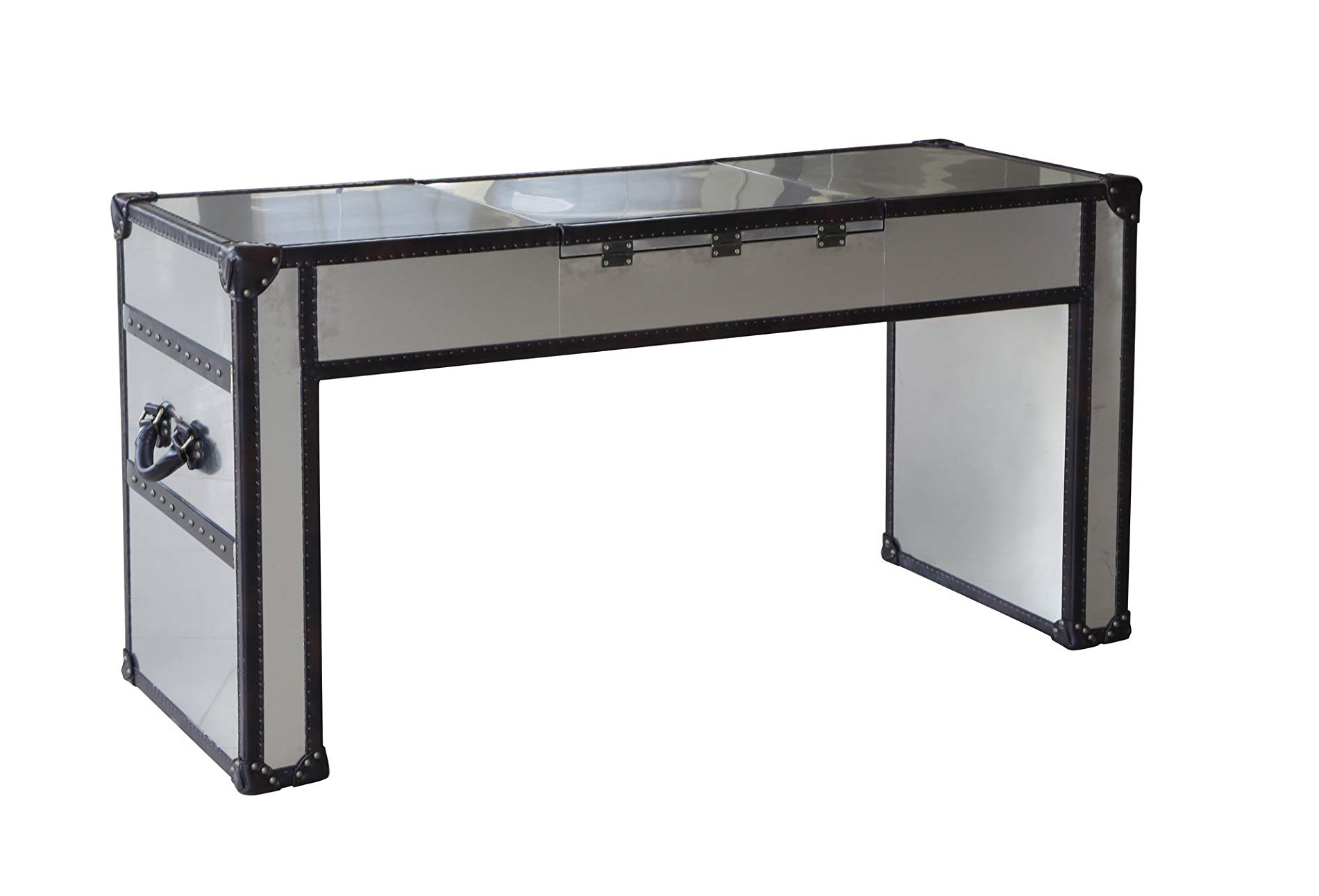 Lazzaro Dietrich Trunk Lift-Top Vanity Table - BACK side