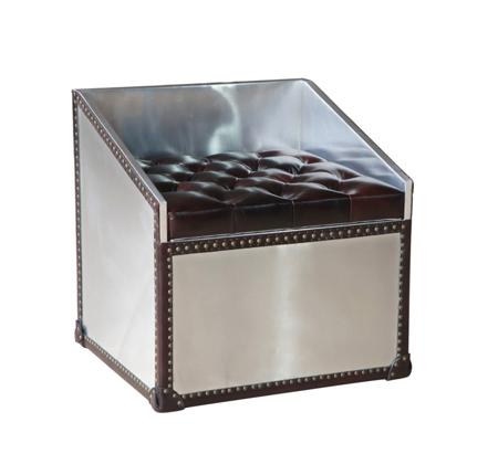 Lazzaro Dietrich Trunk Vanity Stool