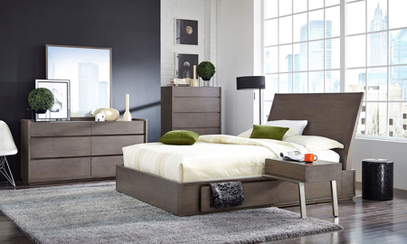 Palliser Maddox Queen Panel Storage Bedroom Set