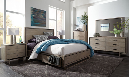 Palliser Podium Queen Storage Bedroom Set