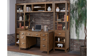 Brooklyn 4-Piece Desk and Wall Unit