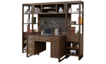 Brooklyn 5-Piece Desk and Wall Unit with Chalkboard Panel
