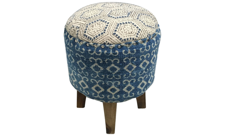 Pink City Juno Suzani Diamond Ottoman