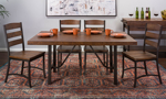 Intercon Industrial Pine 5-Piece Counter Height Dining Set