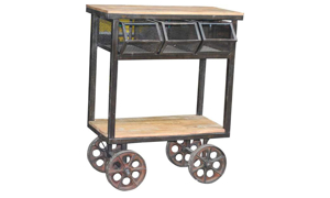 Pink City Cast Iron Trolley Cart