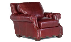 Rocky Mountain Leather Marsala Arm Chair