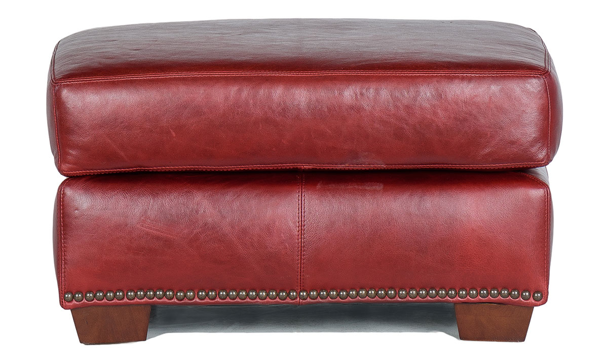 Rocky Mountain Leather Marsala Ottoman