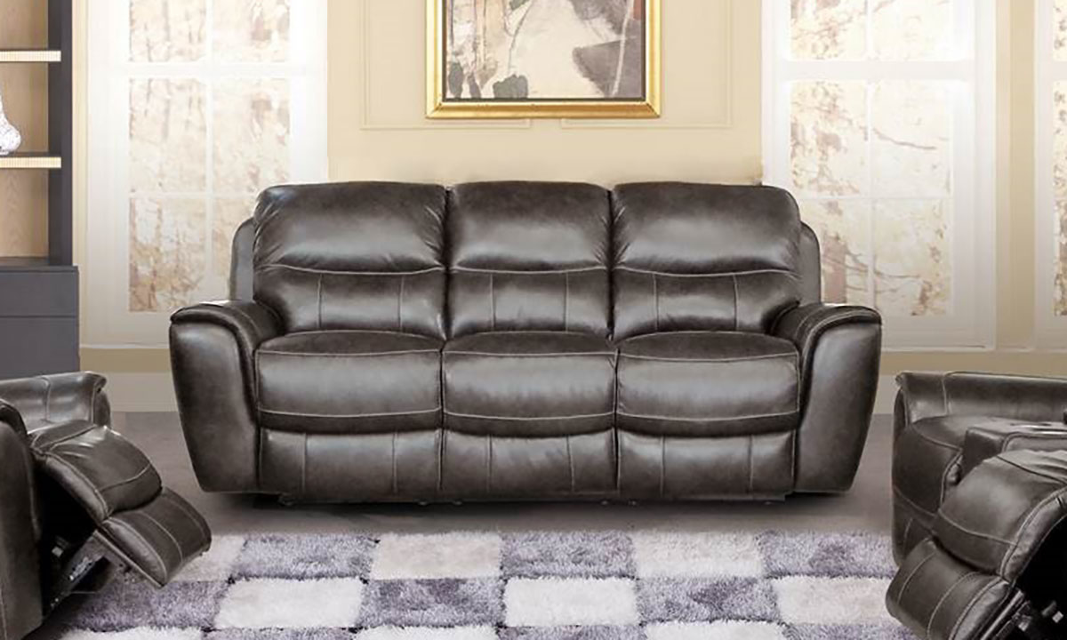 Era Nouveau Sterling Power Reclining Leather Sofa