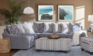 Tangier Handmade Charles of London Scatter Back Sectional