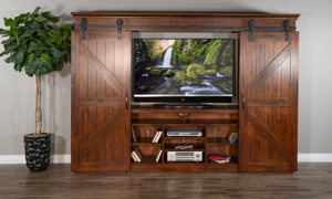 Sunny Designs Santa Fe Barn Door Wall Unit