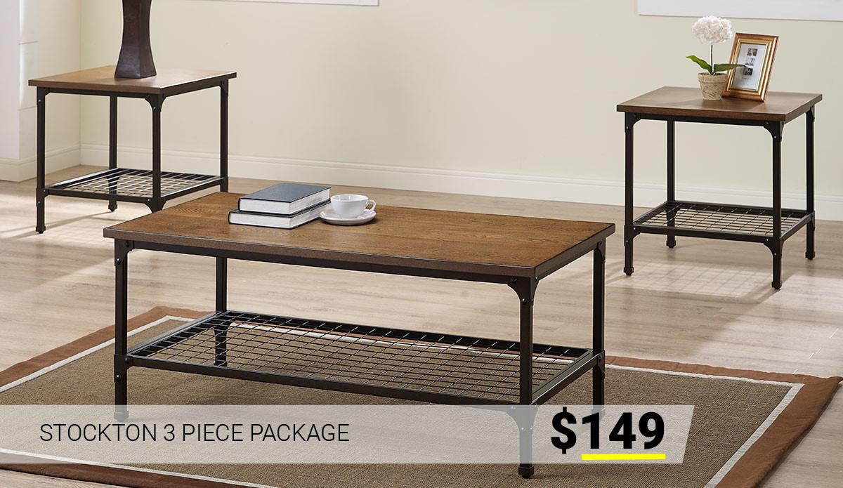 Stockton 3 Piece Package $149