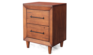 Denver Brown Small 2-Drawer Nightstand